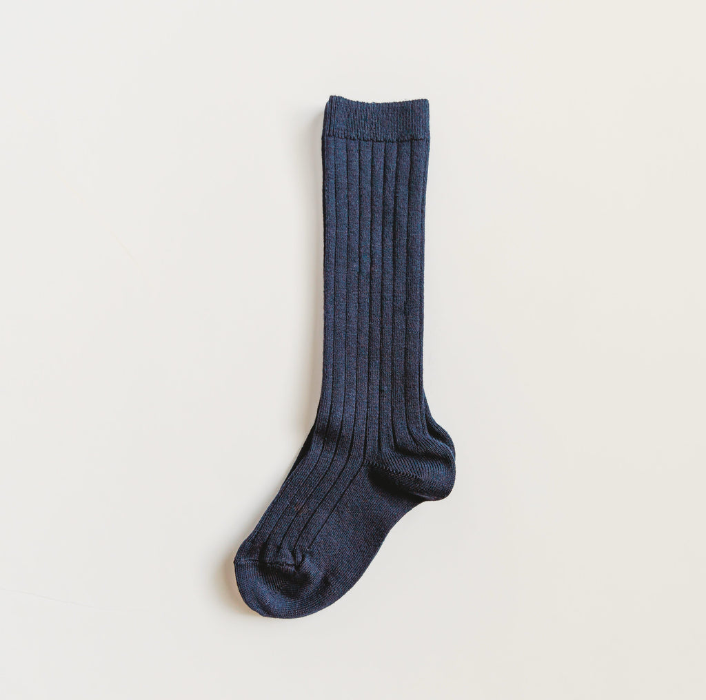 Navy Knee Socks