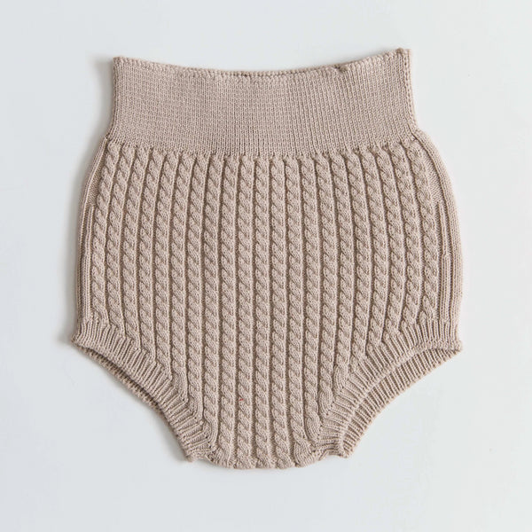 Stone Cable Knit Bloomers