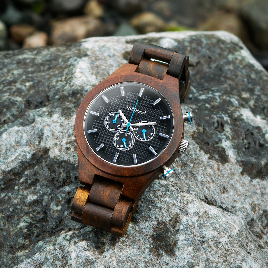 TruWood chronograph wooden watch