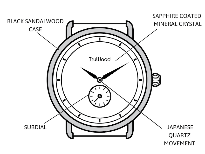 Minimal subdial watch