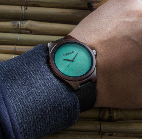 Leaf Green - Wooden Watch