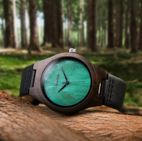 Leaf Green Wooden Watches