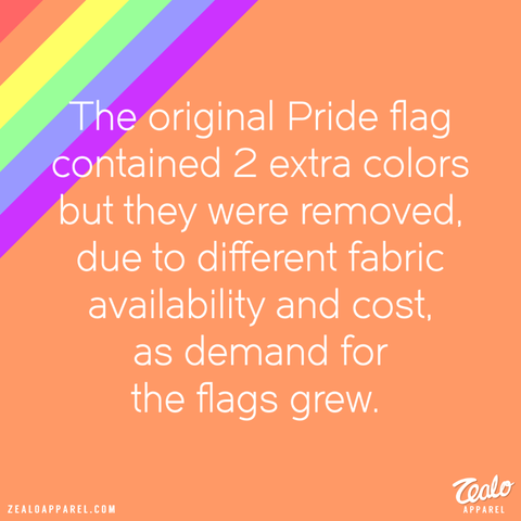 pride month the original pride flag contained two extra colors