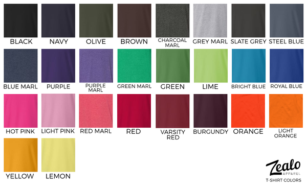 Custom T-Shirt Colors