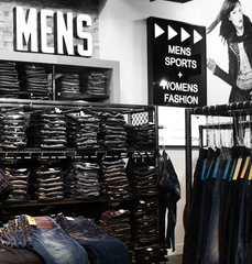 Sexism in retail - Men's section of clothing store