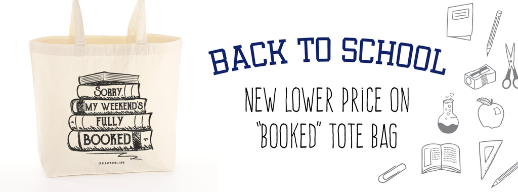 Back to School - Sorry, My Weekend's Fully Booked Tote Bag now at a lower price!