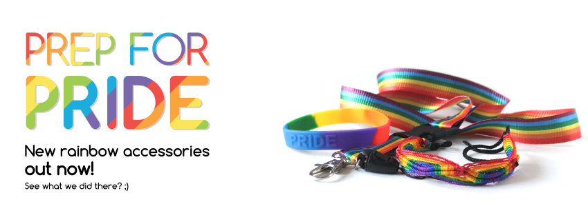 Prep for Pride - New rainbow accessories out now! At Zealo Apparel