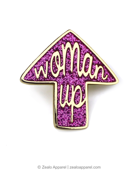 Woman Up Feminist Enamel Pin - Zealo Apparel Pins