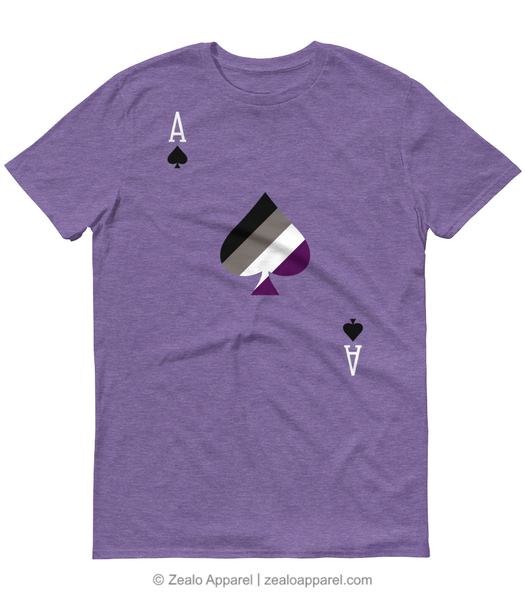 Ace of Spades Asexual Pride T-Shirt - Zealo Apparel LGBTQ Shirts