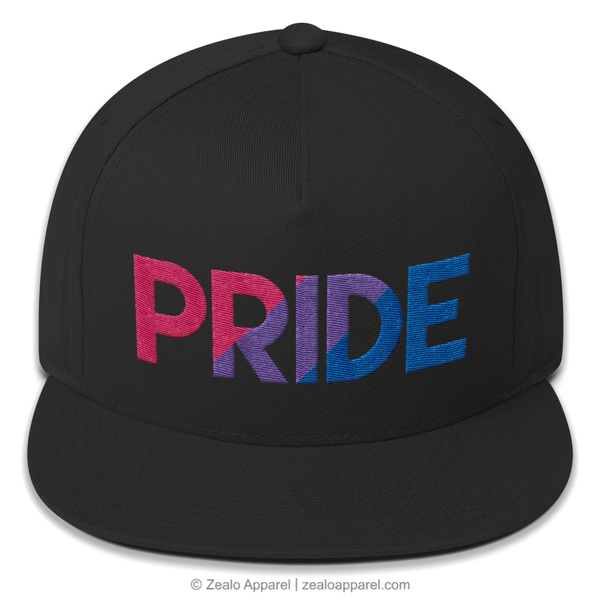 Bi Pride Snapback Hat (Front) - Zealo Apparel LGBTQ Accessories