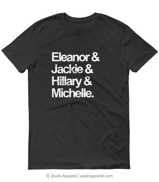 First Ladies Squad Goals T-Shirt Black - Zealo Apparel feminism shirts
