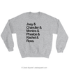 Friends TV Show Squad Goals Sweatshirt Grey Marl - Zealo Apparel Sweaters