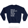 Harry Potter Squad Goals Sweatshirt Navy - Zealo Apparel Sweaters