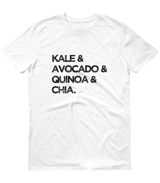 Health Foods Goals T-Shirt Kale & Avocado & Quinoa & Chia - Zealo Apparel