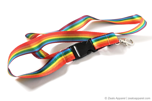 Rainbow Lanyard with detachable clasp - Zealo Apparel LGBTQ accessories