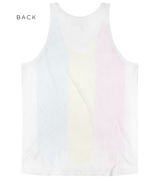 LGBTQ Pride Shirts - Pansexual Flag Tank Top Back - Zealo Apparel