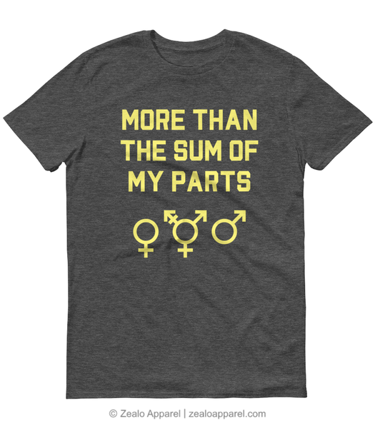 More Than the Sum of My Parts T-Shirt - Zealo Apparel feminist and trans shirts