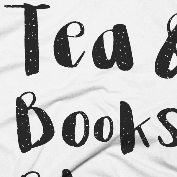 Close-Up Cozy Goals T-Shirt Tea & Books & Blankets & Rain - White - Zealo Apparel