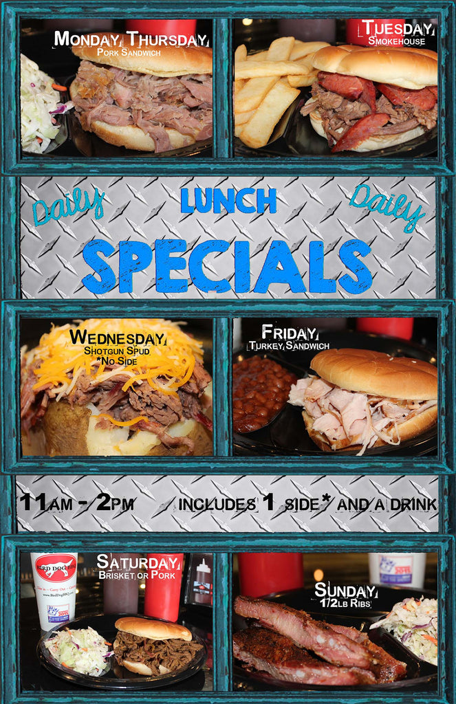 Bird Dog BBQ Daily Lunch Specials