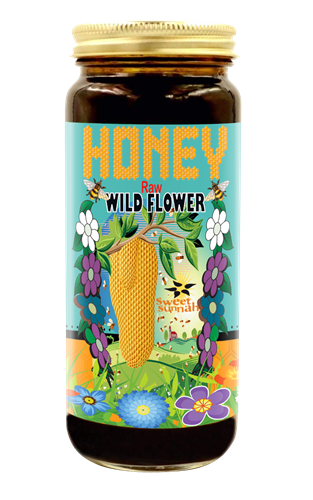 HONEY - Raw Wild Flower Honey 16 oz.