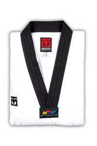 MOOTO SEASON 4 BLACK V NECK TAEKWONDO UNIFORM - SparringGearSet.com - 1