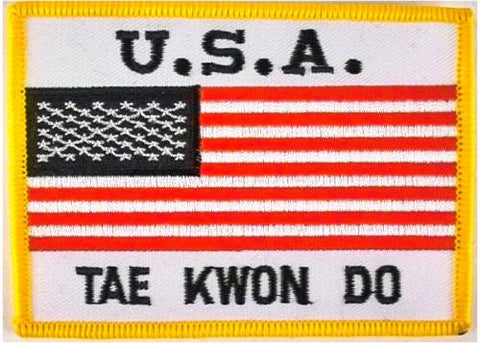 "USA with ""Tae Kwon Do"" PATCH"