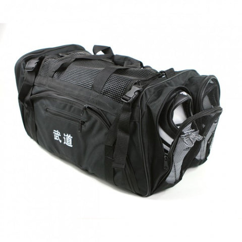 Martial Arts Gear Bag with Mesh On Top-BLACK