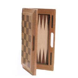 Deluxe 16 Inch Wooden 3 - in -1 Combination Game Set - Chess, Checker & Backgammon