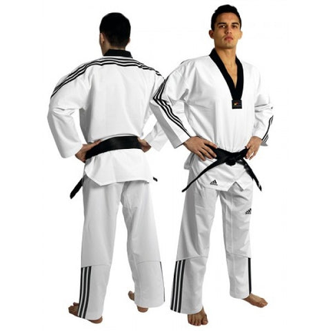 ADIDAS ADI-FLEX II TAEKWONDO UNIFORM WITH 3 STRIPE