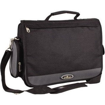 Everest Bags Casual Flap Entry Briefcase Attache & Briefcases, Navy/Charcoal