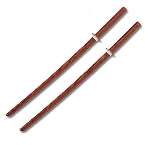 2 Natural Wooden Bokken Practice Training Daito Sword SET