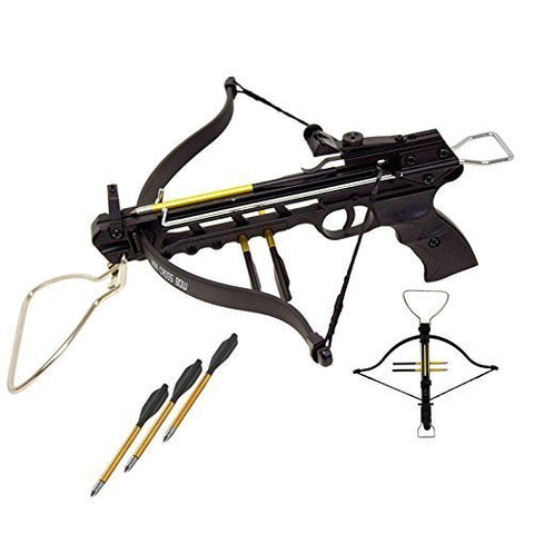 Rogue 80 lbs Aluminum Pistol Crossbow with Build-in Arrow Holder