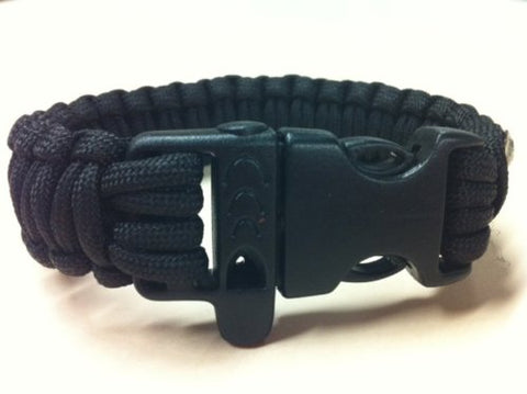 "Multi-purpose ""Ranger Cord"" - The Ultimate Surival Band! Over 9 feet of paracord with built-in whistle"