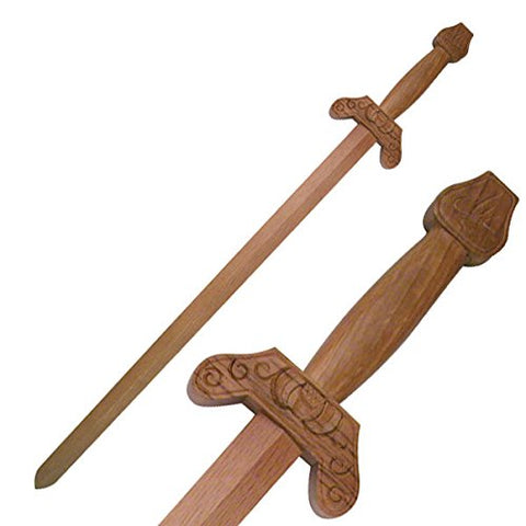 "Ace Martial Arts Hardwood Training Equipment 36"" Wooden Practice Tai Chi Sword"