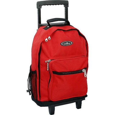 Everest 1045WH Backpack On Wheels (Price/Each), Wheel Bag - Red/Black