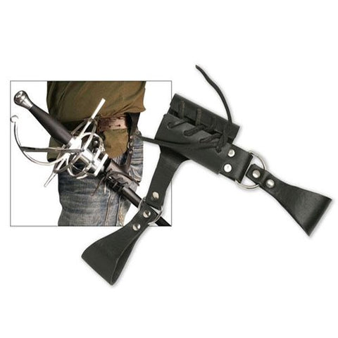 Ace Martial Arts Supply Leather Medieval Rapier Renaissance Sword Holster