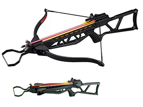 130 lbs Foldable Hunting Crossbow Package with 7 x 14'' Aluminum Arrows and 4 x 20 Scope