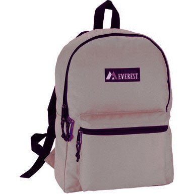Everest Bags Classic Style Backpack School Backpacks, Khaki