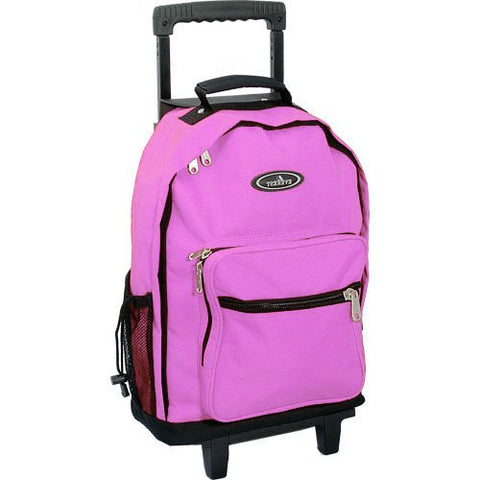 Everest 1045WH Backpack On Wheels (Price/Each), Wheel Bag - Pink/Black