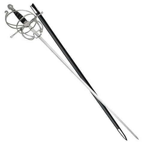 Spiral Rapier Sword of the First Musketeer Model 1 of 3 Wire and Black Handle