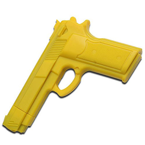 "Ace Martial Arts Supply 7"" YELLOW RUBBER TRAINING GUN Police Dummy Non Firing Real Look and Feel"