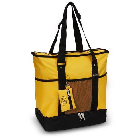 Everest 1002DLX Deluxe Shopping Tote - Yellow/Black
