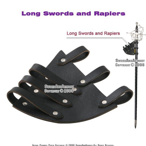 Leather Medieval Sword Frog for Long Swords and Rapiers