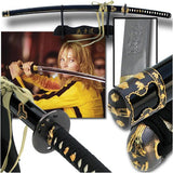 Bride Sword From Kill Bill Vol. 1 & 2 Hattori Hanzo Katana with Symbol Engraved Blade Free Stand
