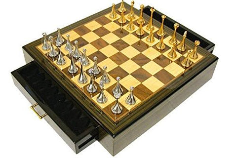 StealStreet SS-CQG-2211 Recreational High Gloss Finish Ebony Strategy Chess Game Set