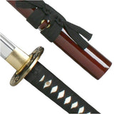 Samurai Sword Maroon Tidal Dragon Full Tang ITO Katana Gift Box Model 221