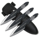 "6PC 5.5"" Throwing Knife Set With Pouch -Thunder Bolt"