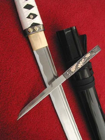 Ace Martial Arts Supply Handmade Sharp Zetsurin Shirasaya Full Tang Samurai Wakuzashi Sword