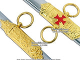 "33"" Templar Crusader Knight of St. John Masonic Sword"
