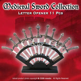 11 Pcs Medieval Classic Sword Collection Letter Opener